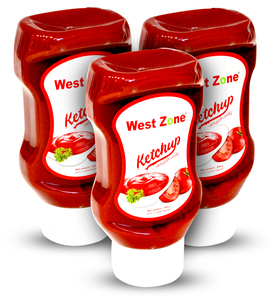 Westzone Tomato Ketchup Squeezy 3x340g