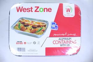 Westzone Rectangular Aluminium Container 83185/1850CC 10pcs