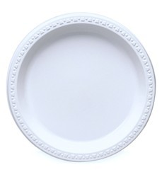 """Yash Foam Plate White 25pcs - 10"""""""