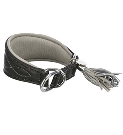 Trixie Active Comfort Collar for Greyhounds Black & Grey 1pc