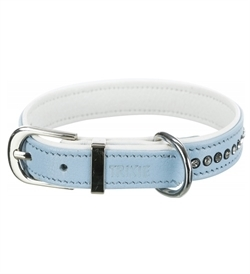 Trixie Active Comfort Collar With Rhine Stones Light Blue 1pc