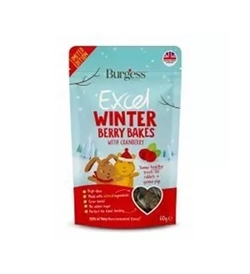 Burgess Excel Winter Berry Bakes for Rabbits & Guinea Pigs 60g