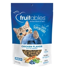Fruitables Chicken Flavour With Blueberry Cat Treats 70g
