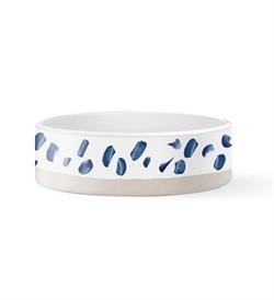 PetShop by Fringe Studio Indigo Marks White Glaze Bowl Medium 1pc