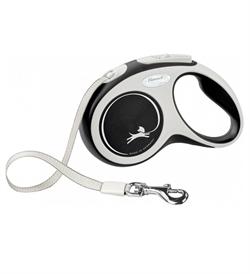 Flexi New Comfort Tape Leash Black Small 1pc