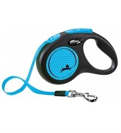 Flexi Leads New Neon Blue Tape Leash Medium 1pc