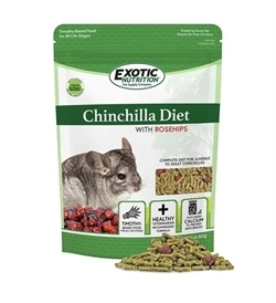 Exotic Nutrition Chinchilla Diet With Rose Hips 1pc