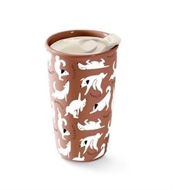 PetShop by Fringe Studio Namaste Dogs Travel Mug 1pc