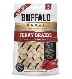Buffalo Range Natural Buffalo Treats Jerky Braids 131g