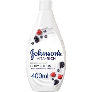 Johnson's Body Lotion Vita-Rich Replenishing Raspberry Extract 400ml