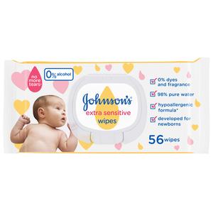 Johnson & Johns Wipes Extra Sensitive 56s