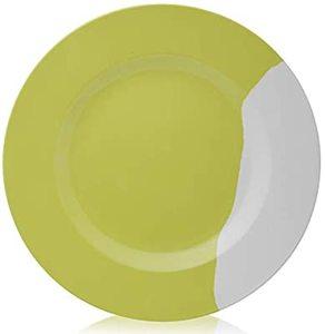 "Superware Round Plate Mint Rose 10"""