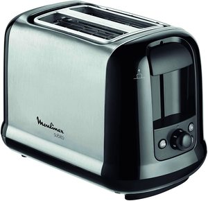Moulinex Subito Stainless Steel Toaster Two Slots 1pc
