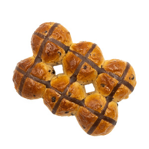 Choco Hot Cross Bun Box 6pcs