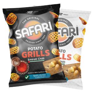 Safari Grills Chips Assorted 3x125g