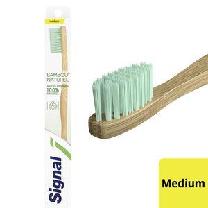 Signal Toothbrush Natural Bamboo- Medium 1Pc