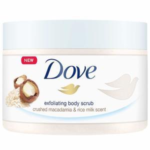Dove Exfoliating Body Scrub Macadamia & Ricemilk 225ml