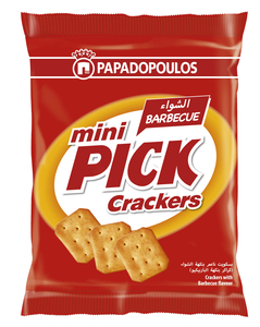 Mini Pick Barbeque Crackers 45g