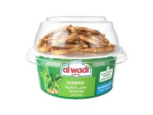 Alwadi Fresh Hummus Zaatar Mix With Crackers 100g