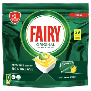 Fairy Dishwasher Tablet Aio Yellow 26s