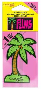 California Scents Palms Hanger Strawberry Car Freshener 1pc