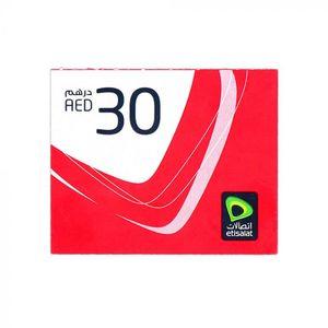 Etisalat E-Voucher AED 30 1pc