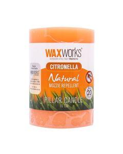 Waxworks Citronella Pillar Candle 10Cm 1pc