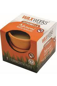 Waxworks Citriblla Candle Terracotta 1pc