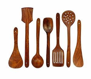 Bechoware Serving Spoon Wooden Handle 1pc