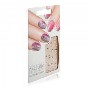 Glossy Blossom Shiny Nail Applique 1pc