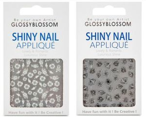 Glossy Blossom Shiny Nail Applique Twinkle 1pc