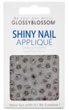Glossy Blossom Shiny Nail Applique Golden Bub 1pc