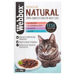 Pets Choice Webbox Natural  Cat Food  Meat 1pc