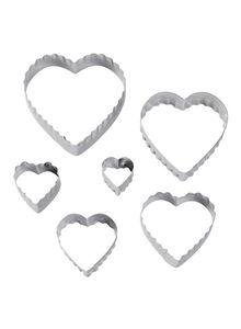 Wilton Heart Fondant Double Cut-Outs Set 6pcs