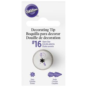 Wilton Open Star Decorating Tips #16 Carde 1pc