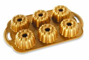 Nordicware Anniversary Bundtlette Pan 6cavs Gold 1pc