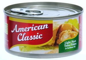 American Classic Tuna Flakes In Sun Flower Oil 6x185g