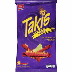 Barcel Hot And Takis Fuego Tortilla Chips 56g