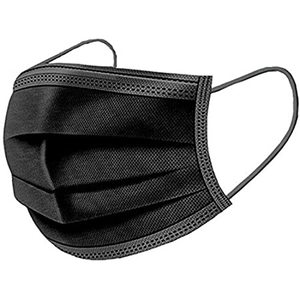 Fm Disposable Black Face Mask 50pcs