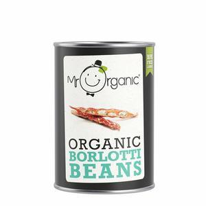 Mr Organic Borlottii Beans 400g