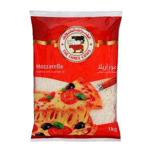 The Three Cows Shredded Mozzarella 1kg