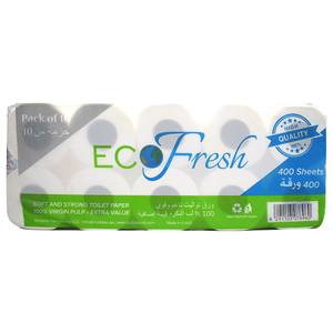 Eco Fresh Toilet Roll 10x400s