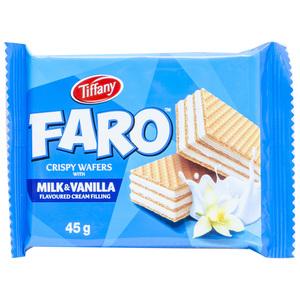Tiffany Wafer Faro Milk & Vanilla 12x45g