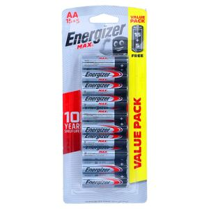 Energizer Max Alkaline Battery AA 15+5 1pack