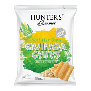 Hunter's Gourmet Quinoa Chips Jalapeno Cheddar 75g