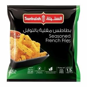 Sunbulah French Fries Seasoned 1.5kg