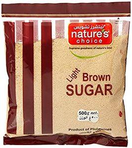 Natures Choice Light Brown Sugar Raw 500g