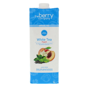 The Berry Company White Tea & Peach Juice 1L