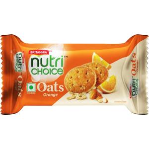 Britannia Nutri Choice Oats Cookies Orange 75g
