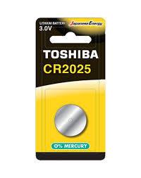 Toshiba Battery Cr2025 Lithium 1pc